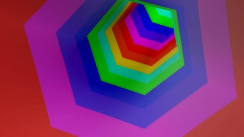 hexagonal stripe colors Stock Video Footage