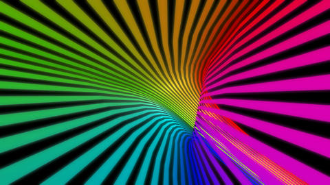tunnel stripes colorful Stock Video Footage