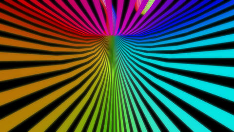 tunnel stripes colorful Animation