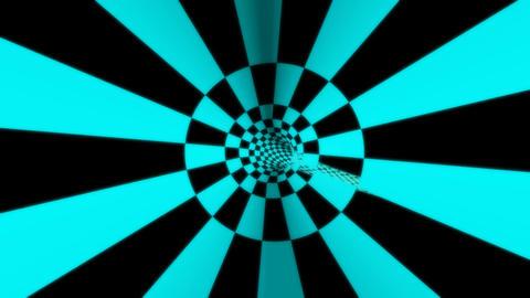 retro checkboard tunnel Animation