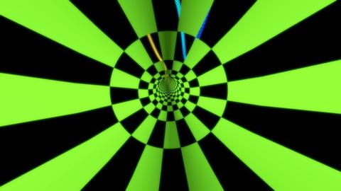 retro checkboard tunnel Stock Video Footage