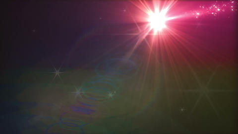 Light streaks and particles 2 D 3a 3f HD Stock Video Footage