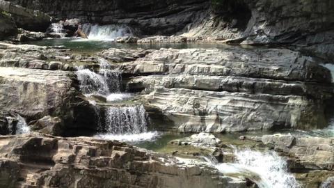 Waterfall_sandan-no-taki_#1 Stock Video Footage