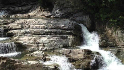 Waterfall_sandan-no-taki_#1 Stock Video Footage
