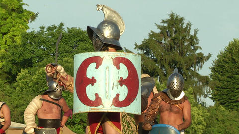 gladiator close up Stock Video Footage