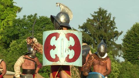 gladiator close up Stock Video Footage