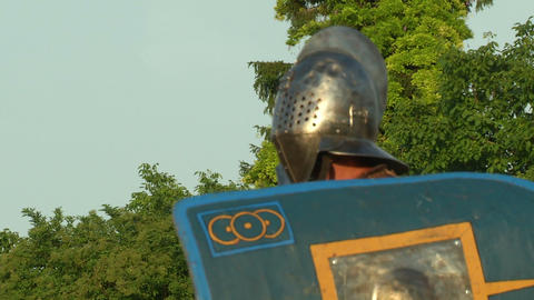 gladiator close up Secutor Stock Video Footage