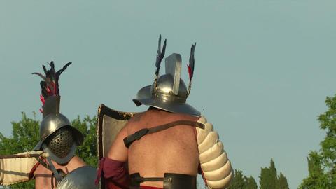 gladiator game Hoplomachus Thraex 02 Footage