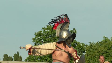 gladiator game Hoplomachus Thraex 04 Footage