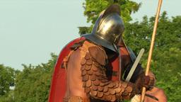 gladiator game Retiarius Secutor 06 Stock Video Footage
