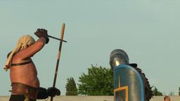 gladiator game Retiarius Secutor 10 Stock Video Footage
