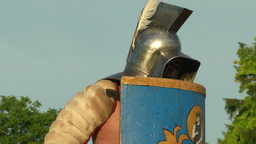 gladiator game Thraex Murmillo 06 Stock Video Footage