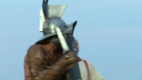 gladiator munus Hoplomachus Thraex 01 Stock Video Footage
