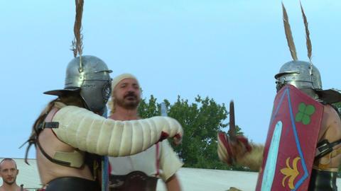 gladiator munus Secutor Secutor 01 Stock Video Footage