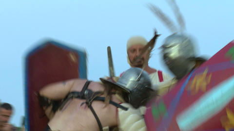 gladiator munus Secutor Secutor 01 Stock Video Footage