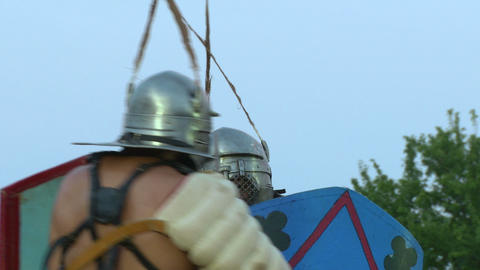 gladiator munus Secutor Secutor 03 Stock Video Footage