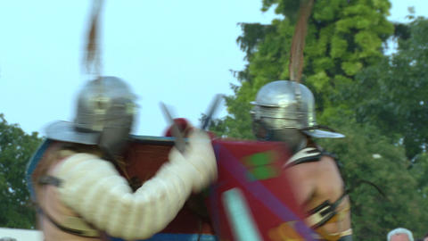 gladiator munus Secutor Secutor 05 Stock Video Footage
