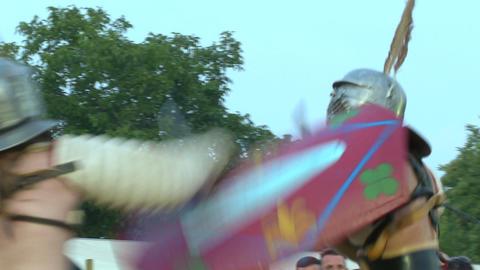 gladiator munus Secutor Secutor 05 Stock Video Footage