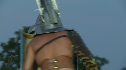 gladiator munus Thraex Murmillo 02 Stock Video Footage