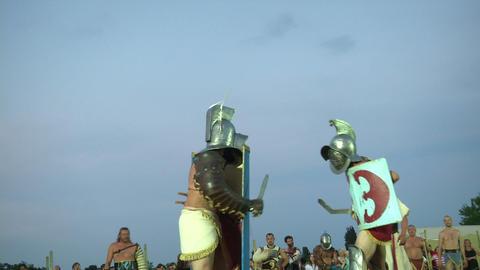 gladiator munus Thraex Murmillo 06 Stock Video Footage