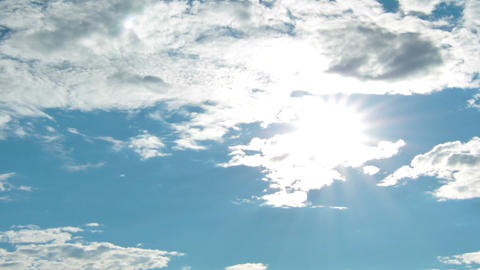 sky and clouds Stock Video Footage