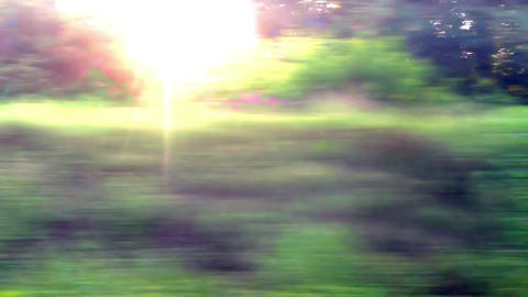 view from the train window Footage