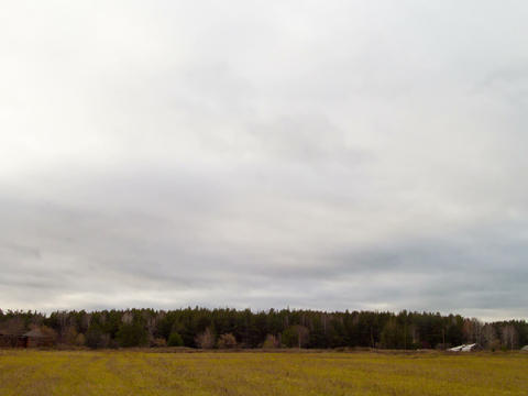 Clouds quickly rush on the sky. Time Lapse. 4x3 Stock Video Footage