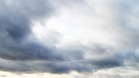 Clouds quickly rush on the sky. Time Lapse. 4K Stock Video Footage