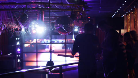 People in club Stock Video Footage