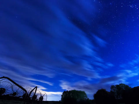 The movement of stars and clouds. Time Lapse Footage
