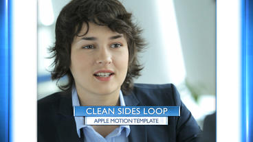 Clean Sides Loop - Apple Motion and Final Cut Pro X Template Apple Motion Template