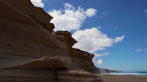 sandstone and Roque del Morro time lapse 11192 Stock Video Footage