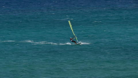windsurfer crossing 11194 Stock Video Footage