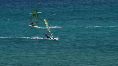 windsurfer crossing 11194 Footage