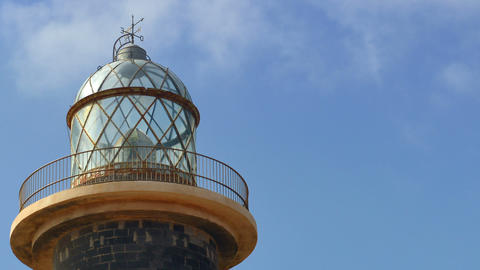 lighthouse and clouds time lapse close 11196 Stock Video Footage