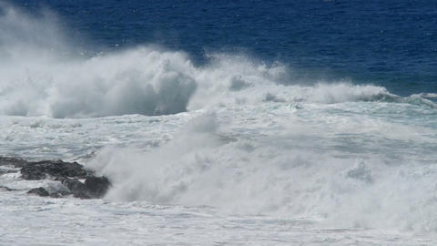 waves rolling to coast slow motion 11198 Stock Video Footage