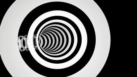 black white stripes tunel Stock Video Footage