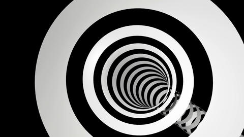 black white stripes tunel Stock Video Footage