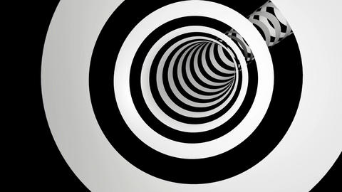 black white stripes tunel Animation