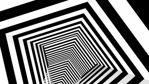 square stripes tunnel Animation
