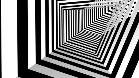 square stripes tunnel Stock Video Footage