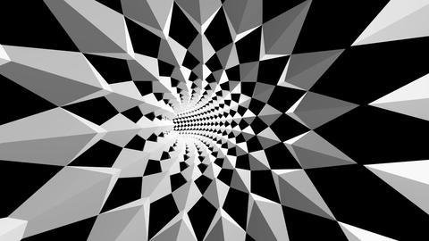diamond array tunnel Stock Video Footage