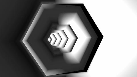 hexagonal tube tunnel Stock Video Footage