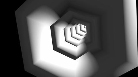 hexagonal tube tunnel Animation