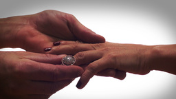 Dreamy Diamond Ring Proposal Stock Video Footage