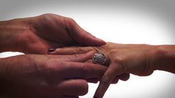 Dreamy Diamond Ring Proposal Stock Video Footage