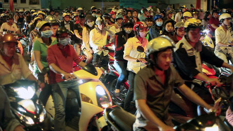 SCOOTER TRAFFIC - SAIGON, VIETNAM stock footage
