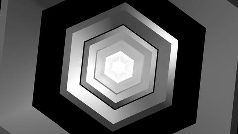 hexagonal rotation tunnel Stock Video Footage