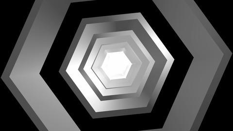 hexagonal rotation tunnel Stock Video Footage