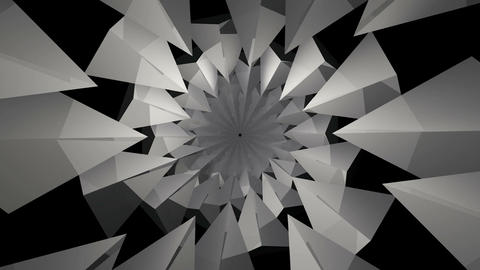 monochrome pyramid kaleidoscope Stock Video Footage
